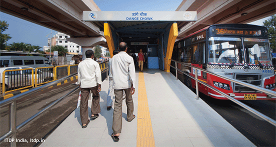 ITDP Image of a BRT Station in India