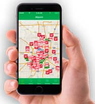 Image of the Allpoint Locator App