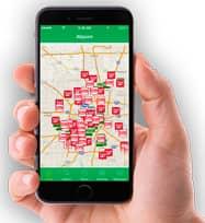 Image of the Allpoint Locator App