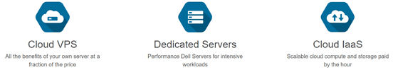 Screenshot of Memset's hosting services