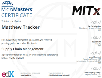 Image of edX MicroMasters Certification