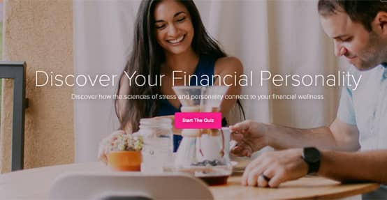 Screenshot of Payoff's Financial Personality Quiz