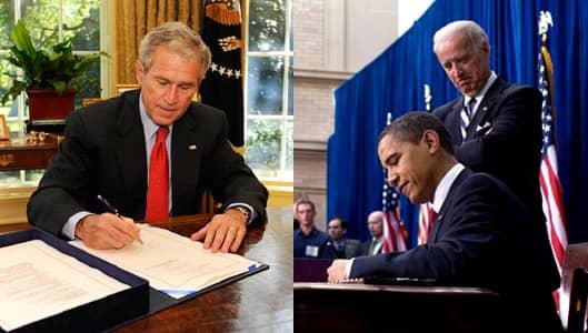 Presidents Signing Great Recession Legislation