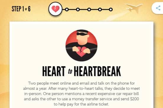 Screenshot from the Fraud Awareness Quiz
