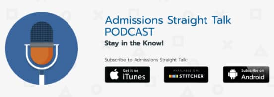Screenshot of the Admissions Straight Talk Podcast