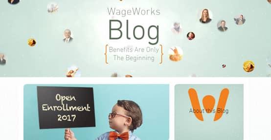 Screenshot of WageWorks blog