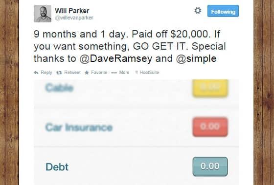Will Parker Simple Debt Tweet
